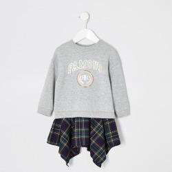 River Island Mini girls Grey 'famous' sweater dress found on Bargain Bro UK from River Island - UK