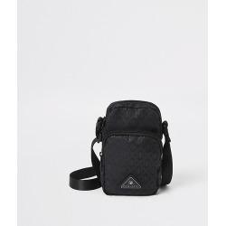 River Island Mens MCMLX black mini cross over bag