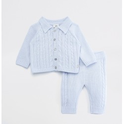 River Island Baby Blue knitted button cardigan outfit found on Bargain Bro UK from River Island - UK