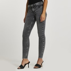 River Island Womens Grey low rise bum sculpt jeggings found on MODAPINS from RIver Island US for USD $86.00