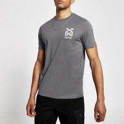 River Island Mens Grey 'XSTNC' short sleeve slim fit T-shirt