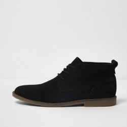 Mens River Island Black suede chukka boots found on Bargain Bro UK from River Island - UK