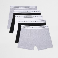 River Island Boys Grey boxer shorts 5 pack found on Bargain Bro UK from River Island - UK