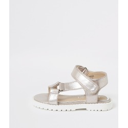 River Island Mini girls pink velcro strap sandals