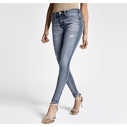 River Island Womens Mid blue Molly jeggings found on MODAPINS from RIver Island US for USD $84.00