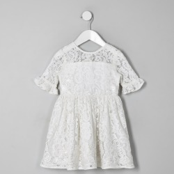 River Island Mini girls White lace bow back dress found on Bargain Bro UK from River Island - UK