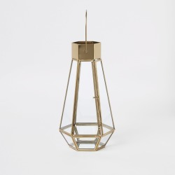 River Island Gold tall glass lantern found on Bargain Bro UK from River Island - UK