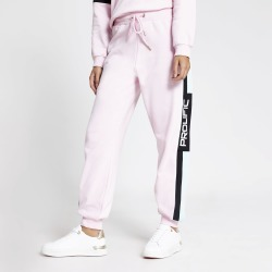 River Island Womens Prolific Pink colour blocked joggers