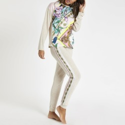 Womens Beige floral print pyjama joggers found on MODAPINS from River Island - UK for USD $31.77