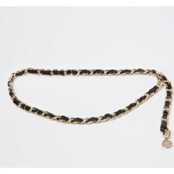 River Island Womens Black faux leather weave chain belt found on Bargain Bro UK from River Island - UK