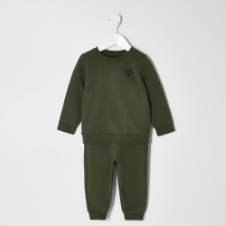 River Island Mini boys Khaki RVR sweatshirt outfit found on Bargain Bro UK from River Island - UK