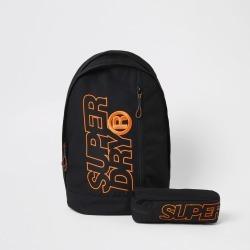 Mens River Island Superdry Black Freshman backpack