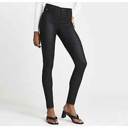 River Island Womens Black coated Molly jeggings found on MODAPINS from RIver Island US for USD $90.00