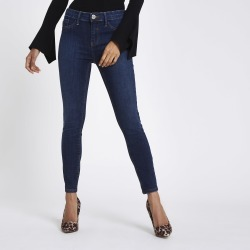 Womens Petite mid Blue Molly jeggings found on MODAPINS from River Island - UK for USD $31.18