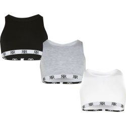 River Island Girls multi racer crop top 3 pack found on Bargain Bro UK from River Island - UK
