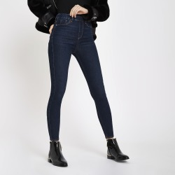 Womens Dark Blue Cici pull on jeggings found on MODAPINS from River Island - UK for USD $24.94
