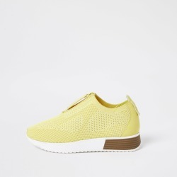 River Island Womens Yellow knitted sock runner trainers found on Bargain Bro UK from River Island - UK