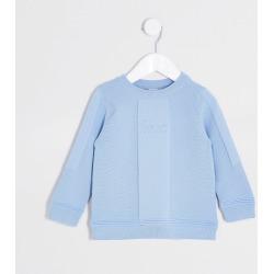 River Island Mini boys Blue 'River' moss stitch jumper found on Bargain Bro UK from River Island - UK