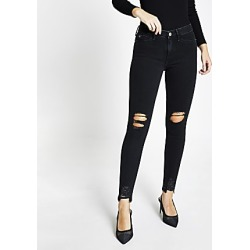 River Island Womens Black Molly ripped jeggings found on MODAPINS from RIver Island US for USD $84.00