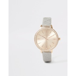 River Island Womens Rose Gold colour RI embossed watch found on Bargain Bro UK from River Island - UK