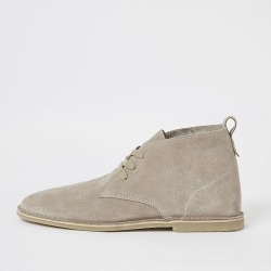 River Island Mens Ecru suede lace-up desert boots found on MODAPINS from RIver Island US for USD $100.00