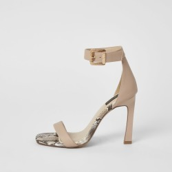 River Island Womens Pink barely there wide fit heeled sandals found on MODAPINS from River Island - UK for USD $50.10