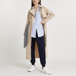 River Island Womens Beige belted trench coat found on MODAPINS from RIver Island US for USD $167.00