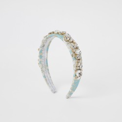 River Island Womens Light Blue jacquard embellished headband found on MODAPINS from River Island - UK for USD $17.53