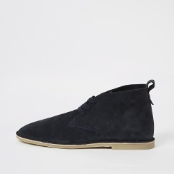 River Island Mens Navy suede lace-up desert boots found on MODAPINS from RIver Island US for USD $100.00