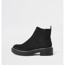 River Island Womens Black wide fit chunky heel boots found on Bargain Bro UK from River Island - UK