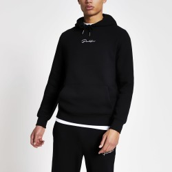 Mens River Island Prolific Black slim fit hoodie