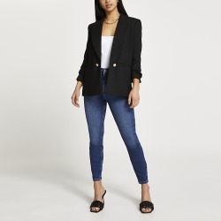 River Island Womens Petite black soft blazer found on MODAPINS from RIver Island US for USD $102.00