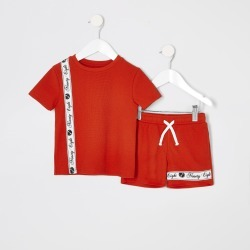 River Island Mini boys Red piqued short outfit found on Bargain Bro UK from River Island - UK