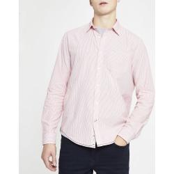 Mens River Island Pepe Jeans Pink pinstripe regular fit shirt
