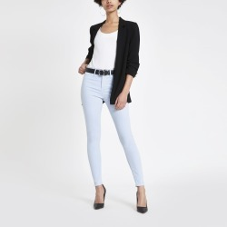 Womens Light Blue mid rise Molly jeggings found on MODAPINS from River Island - UK for USD $31.18