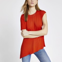 River Island Womens Orange asymmetric sleeve premium T-shirt found on MODAPINS from River Island - UK for USD $25.05