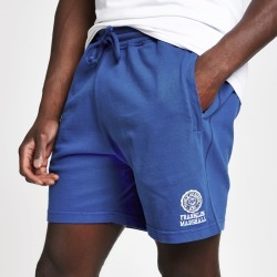 Mens River Island Franklin and Marshall Blue jersey shorts