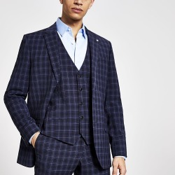 River Island Mens Blue check suit waistcoat found on MODAPINS from RIver Island US for USD $80.00