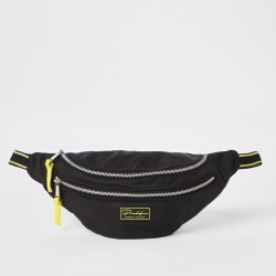 Mens River Island Prolific Black bumbag