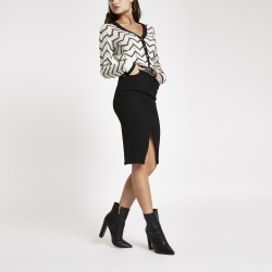 Womens Black denim pencil skirt found on MODAPINS from River Island - UK for USD $45.75