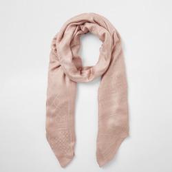 River Island Womens Pink RI monogram jacquard scarf found on Bargain Bro UK from River Island - UK