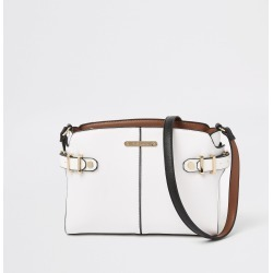 Womens White tab side cross body bag found on MODAPINS from River Island - UK for USD $32.26