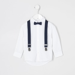 River Island Mini boys White shirt and bowtie outfit found on Bargain Bro UK from River Island - UK