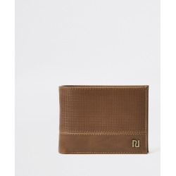 Mens Brown perforated wallet found on MODAPINS from River Island - UK for USD $22.66