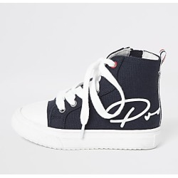 River Island Mini boys navy Prolific high top trainers found on Bargain Bro India from RIver Island US for $40.00