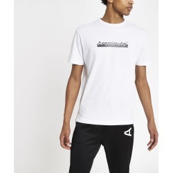 Mens River Island Arcminute White logo print T-shirt found on Bargain Bro UK from River Island - UK
