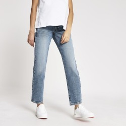 River Island Womens Blue straight leg overbump maternity jeans found on MODAPINS from River Island - UK for USD $50.10