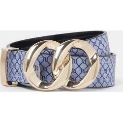 River Island Womens Navy RI double ring buckle belt found on Bargain Bro UK from River Island - UK