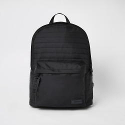 River Island Mens MCMLX black padded backpack