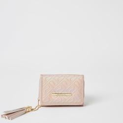 River Island Girls pink RI embossed purse